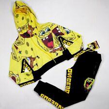 SpongeBob SquarePants Women 2p set size Medium half hoodie and pants