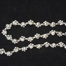 Gorgeous Diamante Trim Crystal Applique Rhinestone by metre