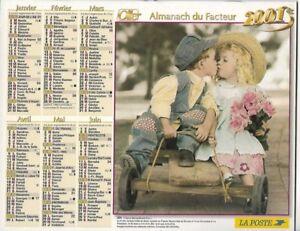 Almanach 2001 Calendrier de la poste PTT - HAUTE-SAONE 70  & Ter. de BELFORT 90