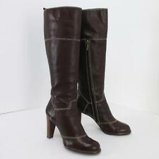 DOLCE & GABBANA Knee High Brown Genuine Leather High Hell Tall Boots US Sz 11