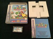 Nintendo Gameboy Advance Super Mario World (Super Mario Advance 2) cart & box +