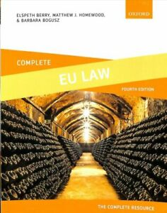 Complete EU Law Text, Cases, and Materials by Elspeth Berry 9780198836216