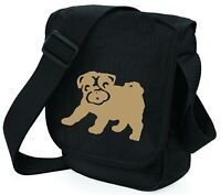 Pug Bag Mini Reporter Dog Walkers Shoulder Bags Pug Gift Birthday Xmas Gift