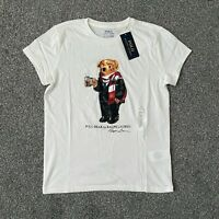 Polo Ralph Lauren Women Polo Bear T Shirt White Size 2XSmall