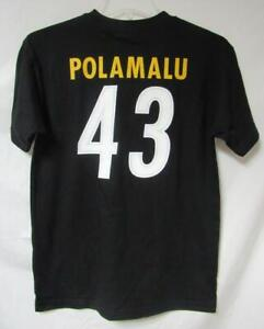 Pittsburgh Steelers Mens Size M or 2XL Troy Polamalu #43 T-Shirt A1 1823