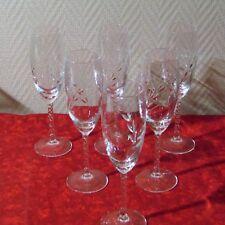 6 flûtes à champagne cristal d'arques du modèle Fleury épi
