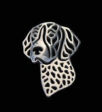 German Shorthaired Pointer Brooch Lapel Pin -  Fashion Jewellery -Silver Plated