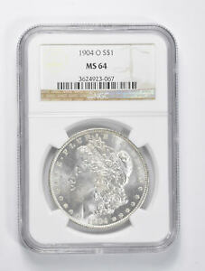 MS64 GRADED - 1904-O Morgan Silver Dollar- NGC *957