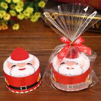 Christmas Cake Towel Gifts Xmas Washcloth Dishcloth Soft Towel Pure Cotton Gift