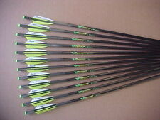 """CROSSBOW BOLTS FOR HORTON VICTORY 12 PACK CARBON H/MOON 20"""" FREE  POINTS !"""
