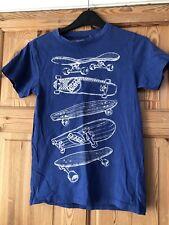 TU Boys Blue Skateboard Detail T Shirt Age 11yrs