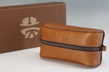 Unused Auth Enrique Loewe Knappe Leather Pouch Brown w/box Free Ship 929f32