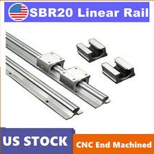 Sbr20 2pcs Slide Guide Shaft L200 2200mm Linear Rail Rod Sbr20uu Block Bearing