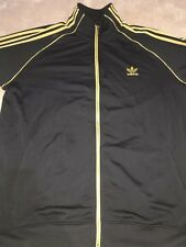 ADIDAS TRACK JACK TOP SZ XXL/2XL BLACK/GOLD GREAT CONDITION! 100% AUTHENTIC