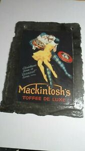 Slate Plaque with Mackintosh's Toffee Deluxe advertisement