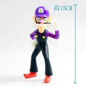 Super Mario Waluigi Action Figure Anime Toy Doll Gift Collection 5''
