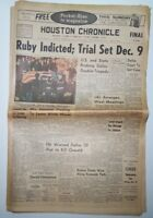 1963 Vintage Newspaper JFK Kennedy Funeral Houston Chronicle Ruby Oswald and LBJ