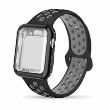 Screen Protector Bumper Case W/ Breathable Hole Wrist Band Loop For Apple Watch