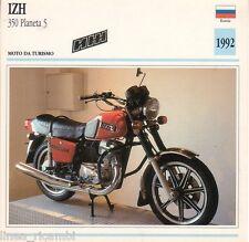 Scheda moto plastificata IZH 350 Planeta 5 - Moto da turismo - 1992