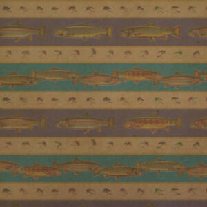 Trout River Lake Fly Fish Fishing Premium Kraft Roll Gift Wrap Wrapping Paper