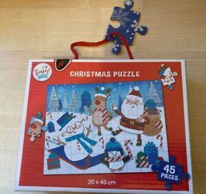 BNIB New Christmas Jigsaw Puzzle 45 Pieces - Santa Tree Penguin Reindeer Snowman