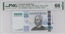 Tanzania 1000 Shillingi ND 2006 P 36 GEM UNC PMG 66 EPQ