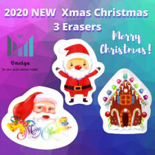 2020 NEW Xmas Christmas 3 Erasers Stocking  Kids Toy Loot/Party Bag Fillers
