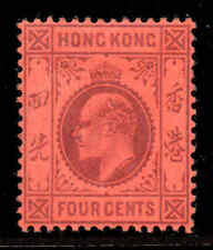 Hong Kong 1903 EDVII 4c wmk crown CA SG 64 mint