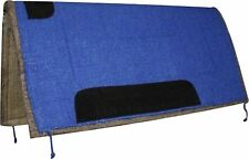 "Showman BLUE 32"" X 32"" Western Saddle Pad W/ Felt Bottom & Suede Wear Leathers!"