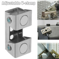 V Type Magnetic Welding Clamps Holder Suspender Fixture Adjustable V-Pads Clamp