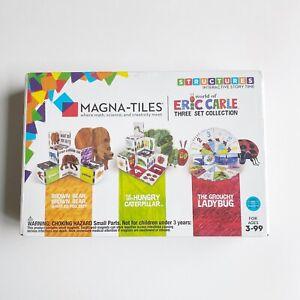 Magna-Tiles Kids' Eric Carle Collection Brown Bear, Hungry Caterpillar, Ladybug