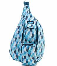 KAVU Rope Sling - Compact Lightweight Crossbody Bag Purple Ikat