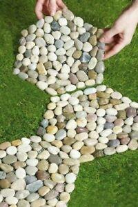 "New 3 SET Pebble Stepping Stones Limestone Rock Yard/Garden Decoration D25cm/10"""