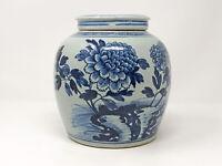 Alter großer Ingwertopf mit Deckel China Keramik Asiatika Vase ca. 19 cm #002