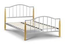 Julian Bowen Carmel 135cm 4ft6 Double Metal & Oak Bed Frame Bedstead