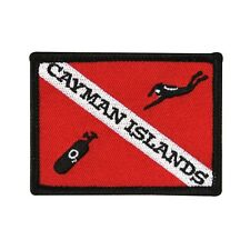 "Scuba Souvenir ""Cayman Islands"" Dive Patch Caribbean Vacation Iron-On Applique"