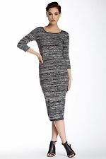 NWT FRENCH CONNECTION $148  Black/Grey  Knit Sweater Casual Dress Sz 4