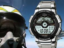 Casio steel aviator watch sport running travel worldwide timex g shock explorer