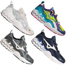 Mizuno Wave Rider 1 señores deporte señora zapatos de moda cortos blanco azul Gruen nuevo