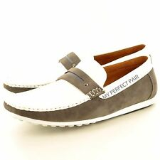 16feb1638 Hombre Piel Sintética Mocasines Casuales sin Cordones Zapatos de Conducción