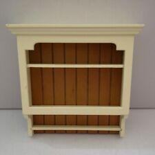 1/12th Scale Cream Shaker Style Kitchen Wall Shelves.
