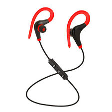 Universal 4.1 Bluetooth Wireless Stereo Earphone Earbuds Sport Headphone Headset Red