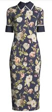 Alice + Olivia Delora Collared Floral Print Sheath Dress Size 4 NWOT