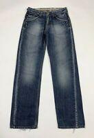 raer rare jeans uomo usato W27 tg 41 gamba dritta blu denim boyfriend T6698