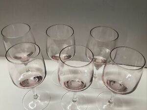 "Lot 6 Sasaki Harmony Pink Coral 5"" Glasses Discontinued PRISTINE"