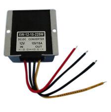 DC12V To 15V 15A 225W Step Up Power Supply Converter Regulator Waterproof 300g