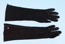 "Abraham & Straus Vintage French Chocolate Brown Suede 15"" Long Elbow Gloves Sz 7"