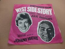 """Julie Andrews/Johnny Mathis - 2 Hit Songs from WEST SIDE STORY 7"""" Single EX"""
