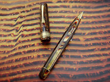OMAS Old style Paragon Extra Arco Brown Rollerball Pen RB gold plated trimming