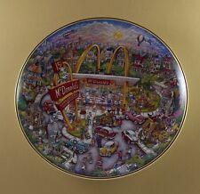 Golden Moments Plate McDonald's Corporation Bill Bell Franklin Mint Burger Fries